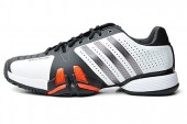 adidas V23749 adiPower Barricade 狼牙系列白色男子网球鞋