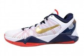 NIKE 488371-104 Zoom Kobe VII System 科比白色男子篮球鞋