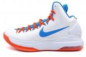 NIKE 554988-100 KD V 杜兰特5代篮球鞋主场配色白蓝