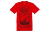 adidas Z55633 Rose Crew Tee 罗斯红色男子短袖篮球架图案T恤