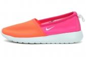 NIKE 579826-800 Roshe Run Slip 荧光红色女子训练鞋