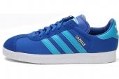 adidas Q23104 Gazelle II 三叶草蓝色男子休闲板鞋