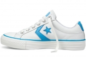 Converse 138173 Star Player 白色低帮绑带中性硫化鞋