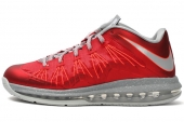 NIKE 579765-600 Air Max Lebron X Low 詹姆斯10代低帮红色