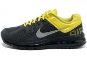 NIKE 554886-006 AIR MAX+ 2013 煤黑色男子跑步鞋