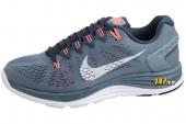 NIKE 599395-414 WMNS Lunarglide+ 5 板岩蓝色女子跑步鞋