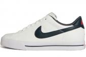 NIKE 318333-162 Sweet Classic Leather 白色男子休闲板鞋