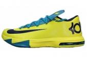 NIKE 599424-700 KD VI 杜兰特6代篮球鞋黄蓝