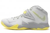 NIKE 599264-001 Zoom Soldier VII 詹姆斯士兵7代篮球鞋灰黄