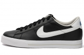 NIKE 318333-046 Sweet Classic Leather 黑色男子休闲板鞋皮革版