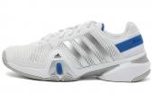 adidas G95021 Adipower Barricade 8.0 狼牙8代白色男子网球鞋