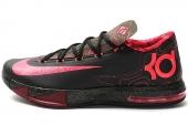 NIKE 599424-006 KD VI 杜兰特6代气象员配色黑红篮球鞋