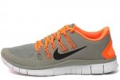 NIKE 579959-008 Free 5.0+ 赤足系列矿石灰色男子跑步鞋
