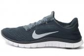 NIKE 580393-410 Free 3.0 V5 赤足系列军械蓝色男子跑步鞋