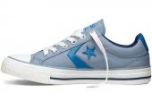 Converse 140844 Star Player 复古运动灰蓝色中性硫化鞋
