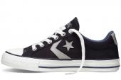 Converse 140845 Star Player 复古运动黑灰色中性硫化鞋