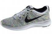 NIKE 554888-004 Flyknit Lunar1+ 超轻盈针织鞋面狼灰色女子跑步鞋