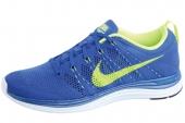 NIKE 554887-474 Flyknit Lunar1+ 超轻盈针织鞋面宝蓝色男子跑步鞋