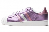adidas G95696 Superstar 2 W 三叶草紫色女子休闲鞋板鞋