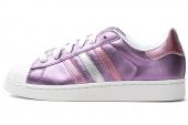 adidas G95696 Superstar 2 W 三叶草紫色女子休闲鞋板鞋