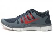 NIKE 579959-460  Free 5.0+ 赤足系列军械蓝色男子跑步鞋