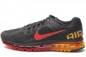 NIKE 554886-068 Air Max+ 2013 黑灰色男子跑步鞋