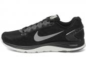 NIKE 615969-001 Lunarglide+ 5 Shield 黑色男子跑步鞋