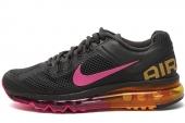 NIKE 555363-068 Wmns Air Max+ 2013 黑色女子跑步鞋