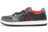 adidas G98447 Meridian 黑灰色男子休闲篮球鞋