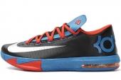 NIKE 599424-004 KD VI 杜兰特6代黑色男子篮球鞋