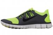 NIKE 579959-700 Free 5.0+ 赤足系列军电黄黑色男子跑步鞋
