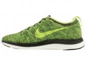 NIKE 554887-371 Flyknit Lunar1+ 篷布绿色男子跑步鞋