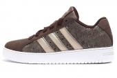 adidas G67261 SS Inspired 贝壳头棕色男子休闲篮球鞋