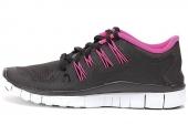 NIKE 615987-006 WMNS Free 5.0+ Shield 赤足系列黑灰色女子跑步鞋