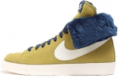 NIKE 585561-700 Blazer High Roll Suede 土黄色女子休闲板鞋