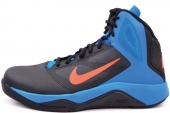 NIKE 616570-001 Dual Fusion BB II Winterized 黑蓝色男子篮球鞋