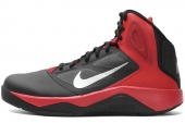 NIKE 616570-004 Dual Fusion BB II Winterized 黑红色男子篮球鞋