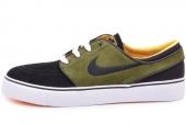 NIKE SB 333824-038 Zoom Stefan Janoski 黑绿色男子休闲板鞋