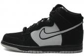 NIKE 317982-059 Dunk High 黑灰色男子高帮休闲板鞋