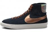 NIKE 517369-400 Blazer Mid Decon Prm 开拓者军械蓝色女子休闲板鞋