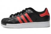 adidas G95788 Superstar II 三叶草贝壳头黑色男子休闲板鞋