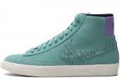 NIKE 586304-301 Wmns Blazer Mid Suede Print 绿色女子休闲板鞋