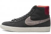 NIKE 586304-005 Wmns Blazer Mid Suede Print 黑灰色女子休闲板鞋
