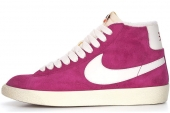 NIKE 518171-501 Blazer Mid Suede Vntg 开拓者紫色女子休闲板鞋