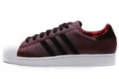 adidas D65600 Superstar II 三叶草马年纪念款浅猩红色男子休闲板鞋
