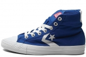 Converse 143088 Star Chevron Life Style 蓝色中性帆布鞋