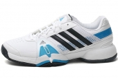 adidas F32351 Barricade Team 3 白色男子网球鞋