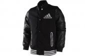adidas D88405 P-College CT系列黑色男子棉服