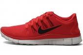 NIKE 579959-606 Free 5.0+ 赤足系列火焰红色男子跑步鞋