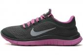 NIKE 580392-315  Free 3.0 V5 赤足系列深灰色女子跑步鞋